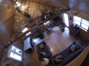 Wide-Angle View of the Living and Dining Area
